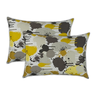 Sherry Kline Paintdrip Boudoir Outdoor Pillows (Set of 2)