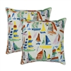Sherry Kline Sailboat 20-inch Outdoor Pillows (Set of 2)