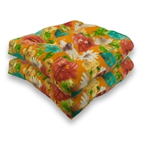 Sherry Kline Alcove Orange Outdoor Seat Cushions (Set of 2)