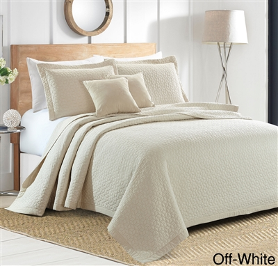 Sherry Kline Out of the Box 3-piece Embroidered Quilt Set (5 Colors Available)
