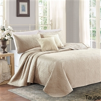 Sherry Kline Shell 3-piece Luxury Embroidered Velvet Quilt Set (5 Colors Available)