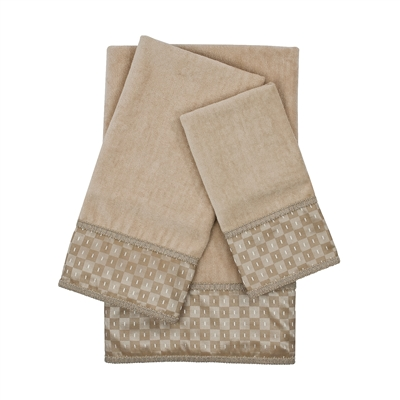 Sherry Kline Montgomery Taupe 3-piece Embellished Towel Set