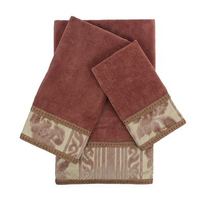 Sherry Kline McKenzie 3-piece Embellished Towel Set