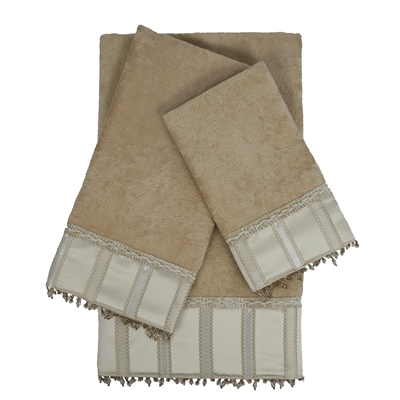 Sherry Kline Cromwell 3-piece Embellished Towel Set