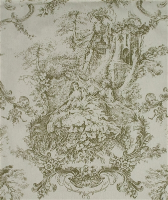 Sherry Kline Country Toile Sage Fabric by Yardage