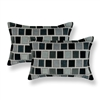 Sherry Kline Stonewall Grey Boudoir Decorative Pillows (Set of 2)