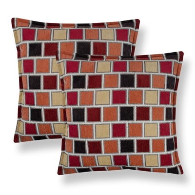 Sherry Kline Stonewall Red 20-inch Decorative Throw Pillow (Set of 2)