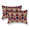 Sherry Kline Stonewall Red Boudoir Decorative Pillows (Set of 2)