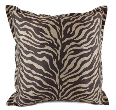Sherry Kline True Safari Taupe Brown 18-inch Square Pillow