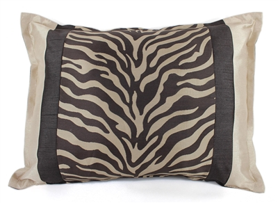 Sherry Kline True Safari Taupe Brown  Boudoir Pillow