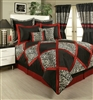 Sherry Kline True Safari Red White Black 4-piece Comforter Set