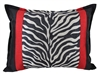 Sherry Kline True Safari Red White Black Boudoir Pillow