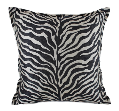 Sherry Kline True Safari Red White Black 18-inch Square Pillow