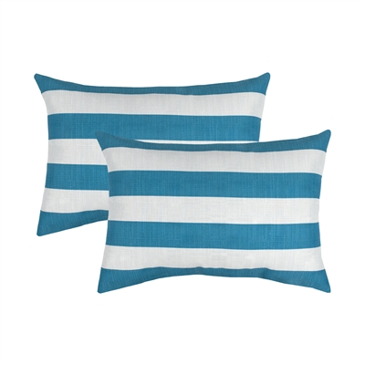 Thread and Weave Clearfield Blue Boudoir Outdoor Pillow (Set of 2)