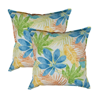 Thread and Weave Honolulu 20-inch Outdoor Pillow (Set of 2)