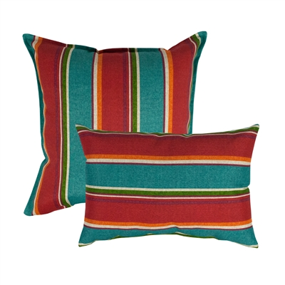 Thread and Weave Riverton Red Combo Outdoor Pillow