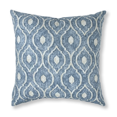 Thread and Weave Magnolia Blue 20-inch Pillow