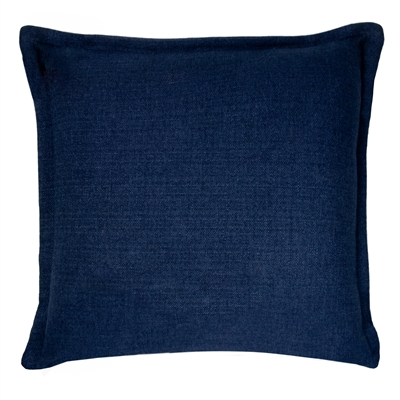 Thread and Weave Brentwood 20-inch Solid Blue Flanged Pillow