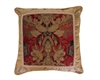 Austin Horn Classics Verona Red 20-inch Fancy Square Pillow