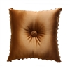 Austin Horn Classics Verona Red 18-inch Shantung Gold Square Pillow