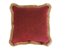 Austin Horn Classics Verona Red 18-inch Red Chenille Square Pillow