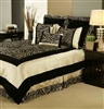 Sherry Kline Zuma Black Taupe 7-piece Comforter Set