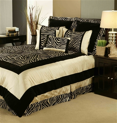 Sherry Kline Zuma Black Taupe 3-piece Duvet Set