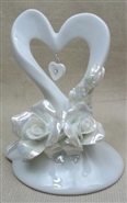 Heart And Roses Cake Topper