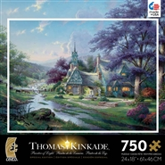 Thomas Kinkade Metallic Clocktower Cottage