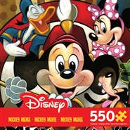 Mickey Mania - Leader of the Club Disney 550 Piece Puzzle