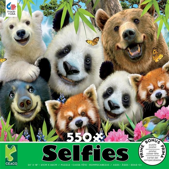 Selfies - Bear Essentials 550 Piece Jigsaw Puzzle