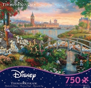 Thomas Kinkade Disney Dreams - 101 Dalamations - 750 Piece Jigsaw Puzzle