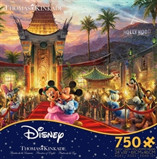 Thomas Kinkade Disney - Mickey and Minnie Hollywood - 750 Piece Puzzle