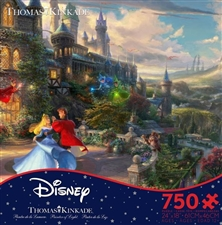 Thomas Kinkade Disney - Sleeping Beauty Enchanting - 750 Piece Puzzle