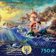 Thomas Kinkade Disney Dreams - The Little Mermaid - 750 Piece Jigsaw Puzzle