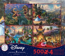 Thomas Kinkade - Disney Dreams - 4 in 1 Multipack - 500 Piece Jigsaw Puzzle