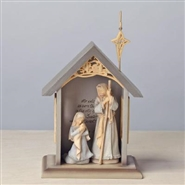 3 Piece Mini Holy Family With Stable Set