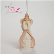 Pray For Strength Courage Confidence Breast Cancer Ornament