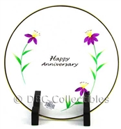 Fenton - Anniversary Clear Glass Plate