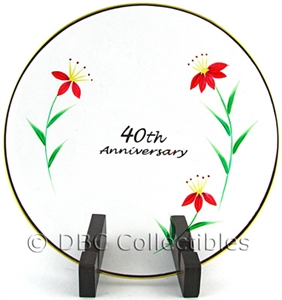 Fenton - 40th Anniversary Clear Glass Plate