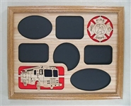 Oak Fireman Picture Frame