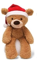 Christmas Fuzzy Bears - Tan