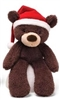 Christmas Fuzzy Bears - Brown