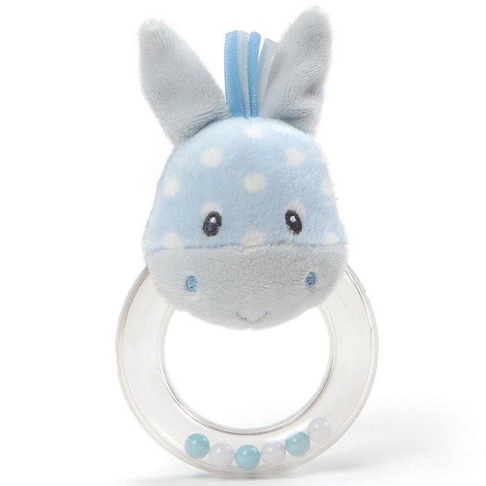 Polka Dot Plush Roly Polys Rabbit Ring Rattle