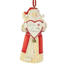 Glass of Cheer Santa Ornament