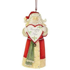 Naughty or Nice Santa Ornament