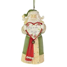 Joy To The World Santa Ornament