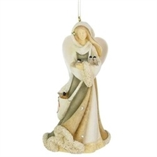 Angel With Birds Ornament
