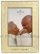 40 Years Enamel Photo Frame