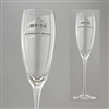 In Sig Ni A - A Perfect Match - Bride Toasting Glass